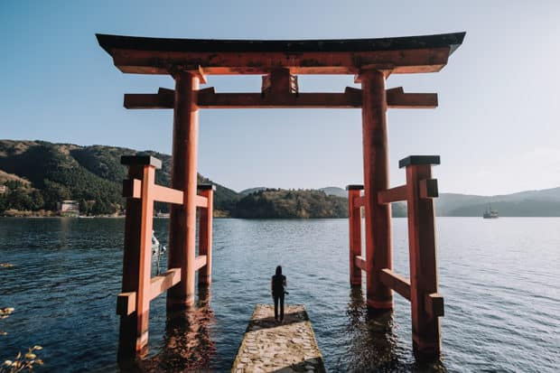 The famous Hakone Shrine, just a quick day trip from Tokyo